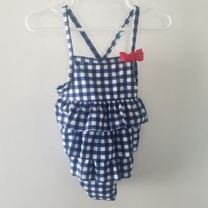 Toddler Buffalo Check One-Piece Bathing Suit